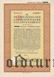 Калининград (Königsberg) Восточная Пруссия, 6% Сельскохозяйственная Ипотека, 2000 goldmark 1929