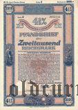 Калининград (Königsberg) Восточная Пруссия, Сельскохозяйственная Ипотека, 2000 рейхсмарок 1940