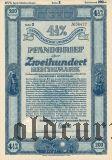 Калининград (Königsberg) Восточная Пруссия, Сельскохозяйственная Ипотека, 200 рейхсмарок 1940
