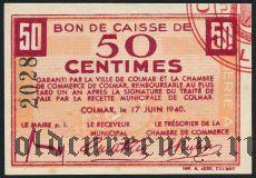 Франция, Colmar, 50 сантимов 1940 года