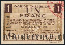 Франция, Colmar, 1 франк 1940 года