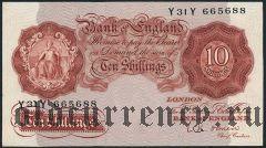 Великобритания, 10 шиллингов (1955-60) года