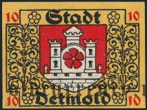 Детмольд (Detmold), 10 пфеннингов 1920 года. Вар. 1