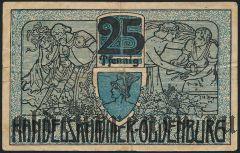Ольденбург (Oldenburg), 25 пфеннингов 1918 года