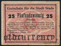 Штаде (Stade), 25 пфеннингов 1918 года. Вар. 1
