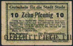 Штаде (Stade), 10 пфеннингов 1918 года