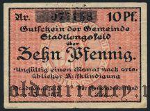 Штадтленгсфельд (Stadtlengsfeld), 10 пфеннингов 1917 года