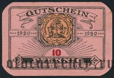 Данненберг (Dannenberg), 10 пфеннингов 1920 года
